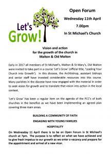 Let's Grow Forum