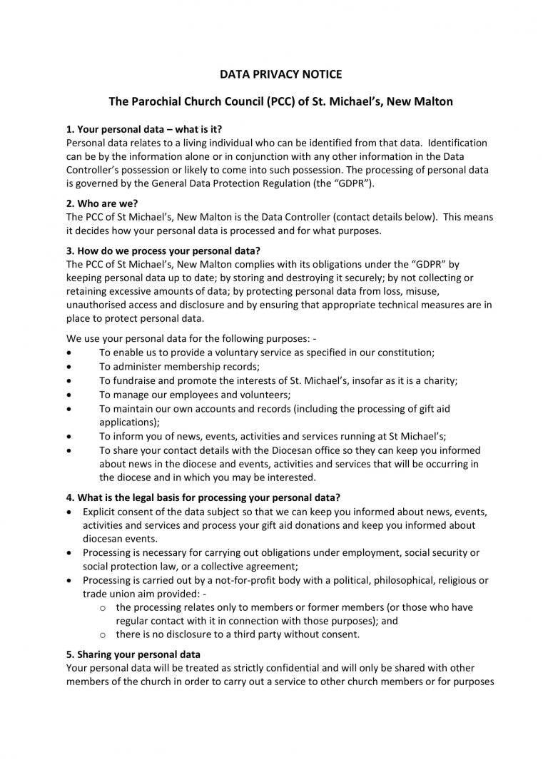 GDPR Privacy Notice 22318-1